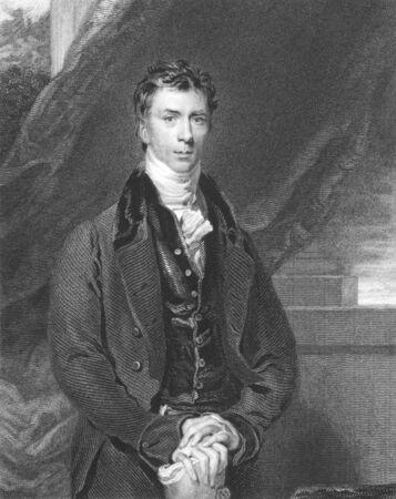 statesman: Henry Brougham (1778-1868), incisione dal XIX secolo. Statista britannico che divenne Lord Cancelliere. Incisione di H.Robinson da un dipinto di T.Lawrence e pubblicato a Londra da Fisher, Son & Co nel 1840.