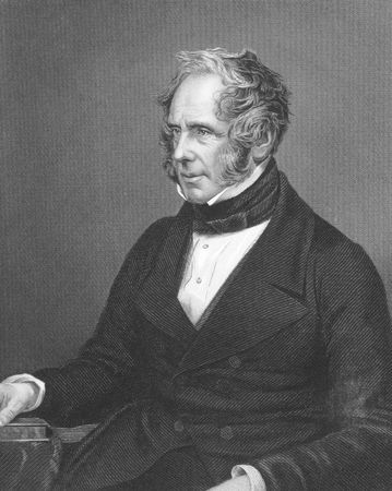 Henry John Temple, 3rd Viscount Palmerston on engraving from the 1850s. British statesman that served twice as Prime Minister of Great Birtian in the mid 19th century. Engraved by J.W.Hunt and published in London by J.S.Virtue. Stock Photo - 8510558