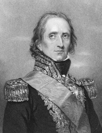 Jean-de-Dieu Soult (1769-1851) on engraving from the 1800s. French general and statesman, named Marshal of the Empire in 1804. Engraved by W.H.Mote after a drawing by Rouillard and published in London Fisher, Son & Co. Stock Photo - 8510622