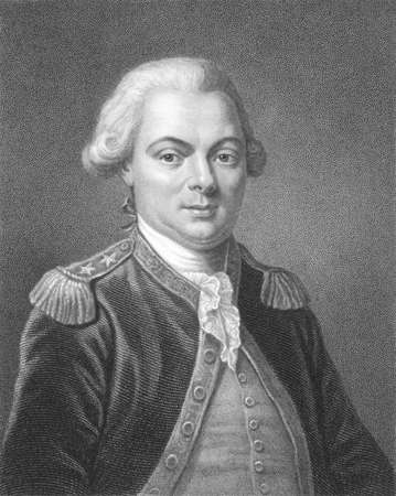 vanished: Jean-Francois de Galaup, comte de La Perouse (1741-1788) on engraving from the 1800s. French Navy officer and explorer whose expedition vanished in Oceania. Engraved by T.Woolnoth and published in London by Charles Knight, Ludgate Street & Pall Mall East.