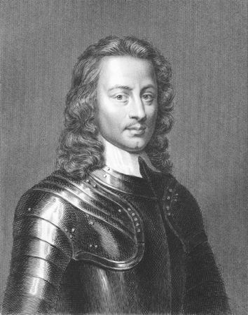 John Hampden (1595-1643) on engraving from the 1800s. English politician. Engraved by J.Pofselwhite from a print by J.Houbraken and published in London by Charles Knight & Co, Ludgate Street.