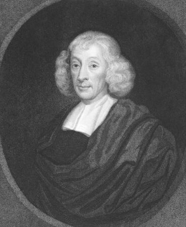 naturalist: John Ray (1627-1705) on engraving from the 1800s. English naturalist, referred as the father of English natural history. Engraved by H.Meyer and published in London by Charles Knight, Pall Mall East. Editorial