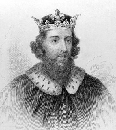 noted: King Alfred the Great (849-899) on engraving from the 1800s. King of the Anglo-Saxon kingdom of Wessex from 871 to 899. Noted for his defense of the Anglo-Saxon kingdoms of southern England against the Vikings. The only English ruler to be entitled The