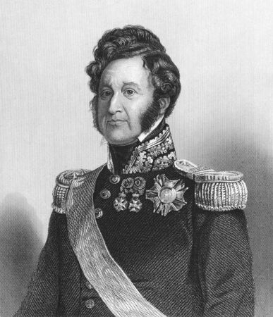 Louis Philippe (1773-1850) on engraving from the 1800s.