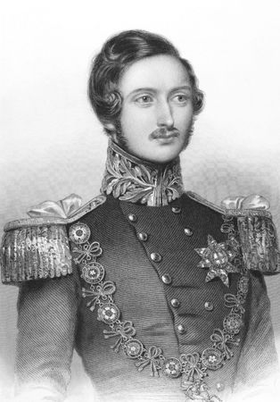 Prince Albert on engraving from the 1850s. Husband of Queen Victoria. Engraved by W.H. Egleton from a drawing by W. Drunnond and published by John & Fred Tallis. Stock Photo - 8510794