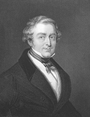 Robert Peel (1788-1850) on engraving from the 1800s.Conservative Prime Minister of Great Britain during 1834-1835 & 1841-1846. Engraved by W.Holl from a picture by T.Lawrence and published in London by W.Mackenzie. Stock Photo - 8510583