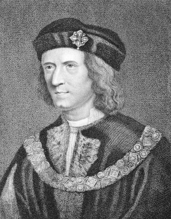 log hair: Richard III (1452-1485) on engraving from the 1800s. King of England during 1483-1485. Engraved by G.N.Gardiner and published in 1806 by E.Jeffery, No11, Pall Mall.
