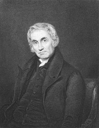 theologian: Samuel Drew (1765-1833) on engraving from the 1800s. English Methodist theologian. Engraved by R.Hicks after a painting by J.Moore and published in London by Fisher, Son & Co. Editorial