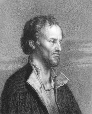 theologian: Philipp Melanchthon (1497-1560) on engraving from the 1800s. German reformer, collaborator with Martin Luther, the first systematic theologian of the Protestant Reformation, intellectual leader of the Lutheran Reformation, and an influential designer of e