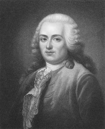 statesman: Turgot (1727-1781) su incisione dal 1800. Economista e statista francese. Incisione di W.T.Fry e pubblicato a Londra da Charles Knight, Pall Mall East. Editoriali