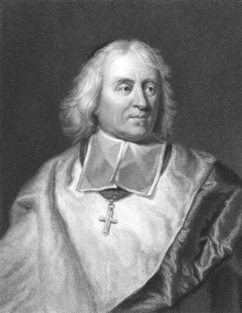 theologian: Jacques-Benigne Bossuet (1627-1704) on engraving from the 1800s. French bishop and theologian. Engraved by R.Woodman from a picture by H.Rigaud and published in London by Charles Knight, Pall Mall East.