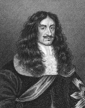 Charles II (1630-1685) on engraving from the 1800s. King of England, Scotland and Ireland durong 1660-1685. Engraved by E.Scriven and published by E.Jeffery in 1808. Stock Photo - 8511493