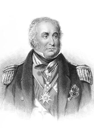 Charles John Napier (1786-1860) sur la gravure du XIXe siècle. Officier de marine écossais dont soixante ans de la Royal Navy a inclus service dans les guerres napoléoniennes, guerre de Syrie et de la guerre de Crimée et une période de commandant de la marine portugaise dans les guerres libéral