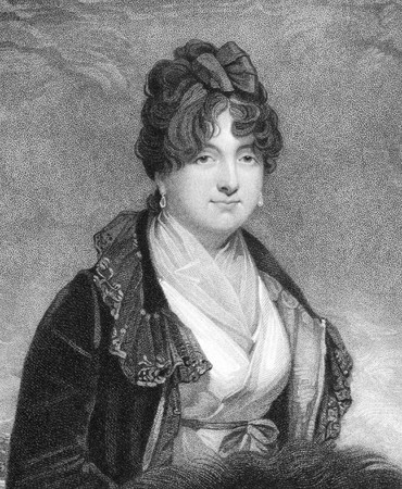 spencer: Charlotte Spencer, Countess Spencer (1835-1903) on engraving from the 1800s. Daughter of the Earl of Lucan. Married to 2nd Earl Spencer. Famed for her beauty and intelligence. Engraved by T.Williamson after a picture by M.A.Shee and published for J.Bell i