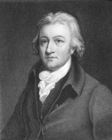 clergyman: Edmund Cartwright (1743-1823) on engraving from the 1800s. English clergyman and inventor of the power loom. Engraved by J.Thomson and published in London by Charles Knight, Ludgate Street. Editorial