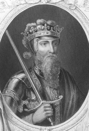 king edward: Edward III (1312-1377) on engraving from the 1800s. One of the most successful English monarchs of the Middle Ages. From a painting by Windsor Castle.