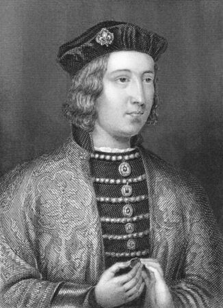 king edward: Edward IV (1442-1483) on engraving from the 1800s. King of England during 4 March 1461 to 3 October 1470 and 11 April 1471 until his death. From an ancient painting in the Royal Collection.