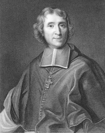 theologian: Francois Fenelon (1651-1715)  on engraving from the 1800s. French Roman Catholic theologian, poet and writer. Engraved by J.Thomson from a picture by Vivien and published in London by Charles Knight, Pall Mall East. Editorial