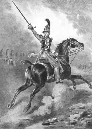 Frederick William IV (1795-1861) on engraving from the 1800s. King of Prussia during 1840-1861. Engraved from an original picture by Vernet.