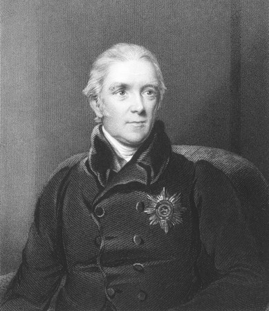 henry: Henry Halford (1766-1844) on engraving from the 1800s. Physician of the royal family. Engraved by J.Cochran and published in London by Fisher, Son & Co.