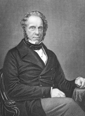 Henry John Temple, 3rd Viscount Palmerston on engraving from the 1850s. British statesman that served twice as Prime Minister of Great Birtian in the mid 19th century. Engraved by D.J.Pound. Stock Photo - 8511066