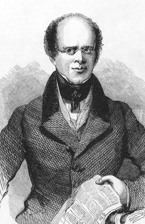 political economist: John Black (1783-1855) on engraving from the 1800s. Editor and political economist. Engraved by W.Thomas. Editorial