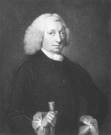 John Huxham (1672-1768) on engraving from the 1800s. Provincial doctor and surgeon notable for his study of fevers. Engraved by J.Jenkins from a painting by T.Rennel published in London by Fisher, Son & Co.