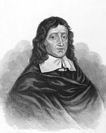 John Milton on engraving from the 1800s. English poet, author, polemicist and civil servant for the commonwealth of England. Best known for his epic poem Paradise Lost. Published in London by L.Tallis. Stock Photo - 8511555