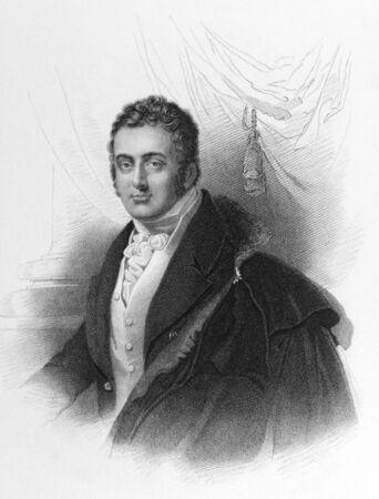 spencer: John Spencer, 3rd Earl Spencer (1782-1845) aka Lord Althorp on engraving from the 1800s. British statesman.