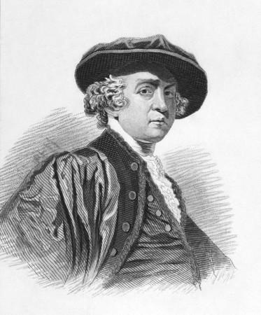 cronologia: Joshua Reynolds (1723-1792) en grabado desde la d�cada de 1850. Pintor ingl�s especializado en retratos. Grabado para la cronolog�a alfab�tico de Townsends.
