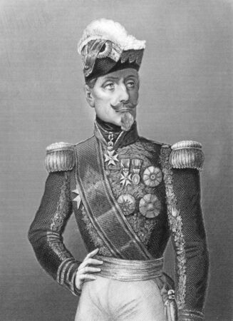 Marshal Saint Arnaud (1801-1854) on engraving from the 1800s. French soldier and Marshal of France during the 19th century. Engraved by D.J. Pound and published by the London printing and publishing company. Stock Photo - 8511069