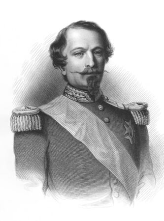 Napoleon III aka Louis Napoleon Bonaparte (1808-1873) on engraving from the 1800s. President of the French Second Republic and ruler of the Second French Empire. Nephew of Napoleon I. Published by Virtue in London. Stock Photo - 8511484