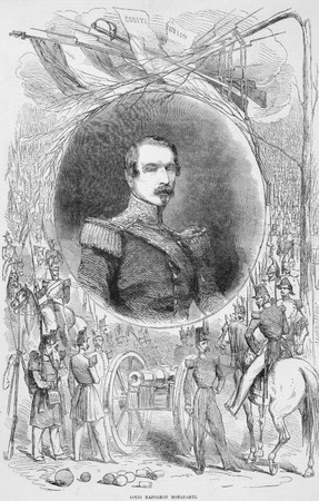 Napoleon III aka Louis Napoleon Bonaparte (1808-1873) on engraving from the 1800s. President of the French Second Republic and ruler of the Second French Empire. Nephew of Napoleon I. From a photograph by Kilburn. Stock Photo - 8510885