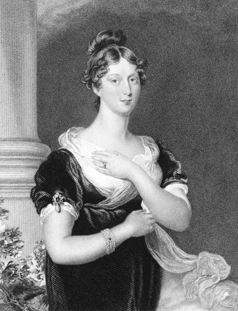 augusta: Princess Charlotte Augusta of Wales (1796-1817) on engraving from the 1800s. Engraved by E.Scriven and published in London by W.Fry and published in London by Fisher & Son in 1832.