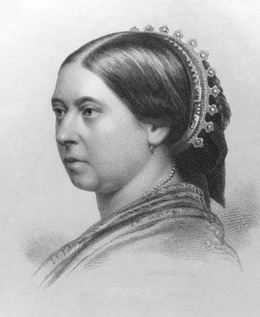 Queen Victoria (1819-1901) on engraving from the 1800s. Queen of Great Britain during 1837-1901. Engraved by W.Holl and published in London by W.Mackenzie.