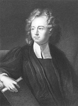 theologian: Richard Bentley (1662-1742) on engraving from the 1800s. English theologian, classical scholar and critic. Engraved by J.Pofselwhite and published in London by Charles Knight, Ludgate Street & Pall Mall East.