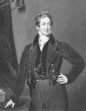 Robert Peel (1788-1850) on engraving from the 1800s.Conservative Prime Minister of Great Britain during 1834-1835 & 1841-1846. Engraved by J.Cochran from a painting by T.Lawrence. Stock Photo - 8511051