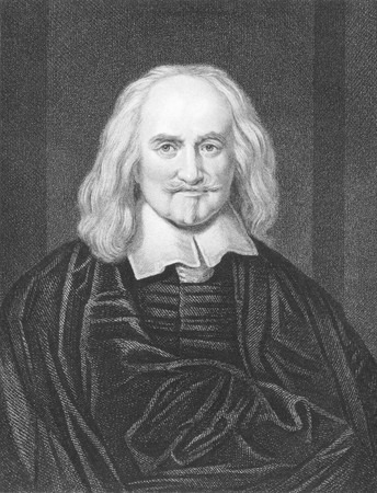 Thomas Hobbes (1588-1679) on engraving from the 1800s. English philosopher. Engraved by J.Pofselwhite from a picture by Dobson and published in London by W.Mackenzie.