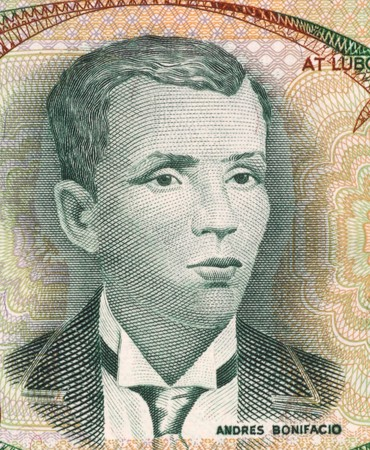 nationalist: Andres Bonifacio (1863-1897) on 5 Piso 1969 Banknote from Philippines. Filipino nationalist and revolutionary.