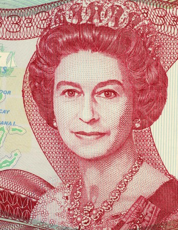 Queen Elizabeth II (1926-) on 3 Dollars 1984 Banknote from Bahamas. Queen regnant of 16 independent sovereign states known as the Commonwealth realms.