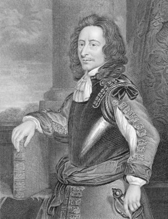sidney: Algernon Sidney (1623-1683) on engraving from the 1800s. English politician, republican political theorist, colonel and opponent of King Charles II of England, who became involved in a plot against him and was executed for treason. Engraved by J.Cochran a Editorial