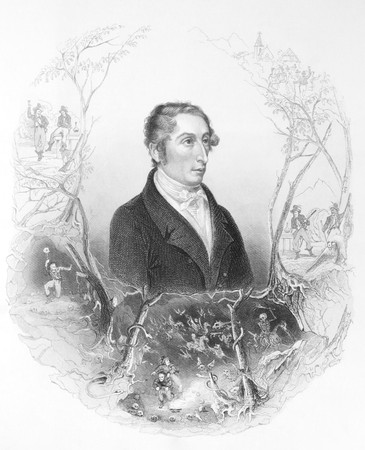 critic: Carl Maria von Weber (1786-1826) on engraving from the 1800s. German composer, conductor, pianist, guitarist and critic, one of the first significant composers of the Romantic school. Engraved by A.H. Payne.