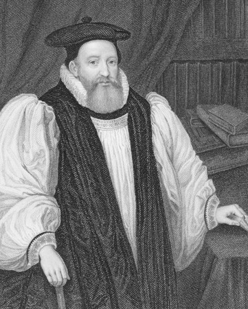 abbot: George Abbot (1562-1633) on engraving from the 1800s.  English divine and Archbishop of Canterbury. Engraved by W.T.Mote and published by the London Printing and Publishing Company.