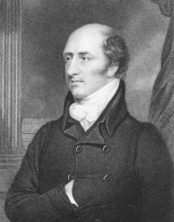 foreign secretary: George Canning (1770-1827) on engraving from the 1800s. British statesman and politician  who served as Foreign Secretary and Prime Minister. Engraved by W.Holl after a painting by T.Stewardson and published by Fisher, Son & Co, London in 1846. Editorial