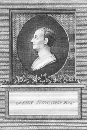 philanthropist: John Howard (1726-1790) on engraving from the 1700s. Philanthropist and first English prison reformer. Engraved by T.Prattent and published in the European Magazine by J.Fewell Cornhill.