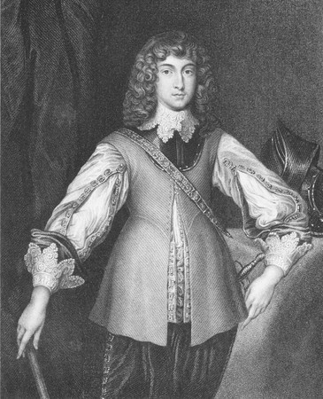 Prince Rupert of the Rhine (1619-1682) on engraving from the 1800s. Noted soldier, admiral, scientist, sportsman, colonial governor and amateur artist. Engraved by J.Cochran and published by J.F.Tallis, London & New York.
