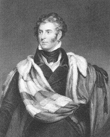 statesman: Thomas Philip de Grey, de 2nd Earl Grey (1781-1859) su incisione dal 1800. Tory britannici politico e statista. Incisione di H.Robinson dopo un dipinto di W.Robinson e pubblicato da Fisher, Son & Co, Londra nel 1844.