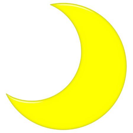 crescent moon: 3d crescent moon