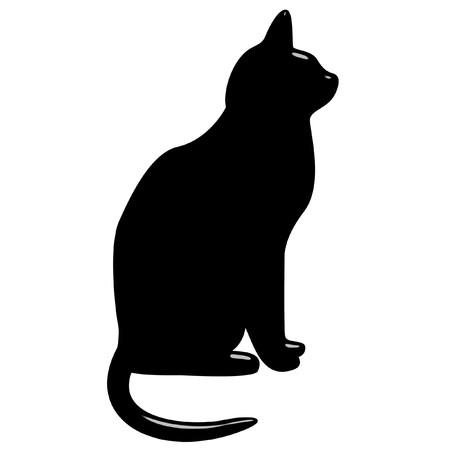 black luck: 3d black cat  Stock Photo