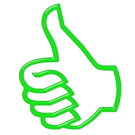 confirm confirmation: 3d thumbs up Stock Photo